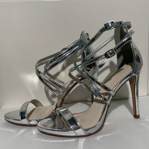 Shoes - Pointed Ankle-Strap Heels